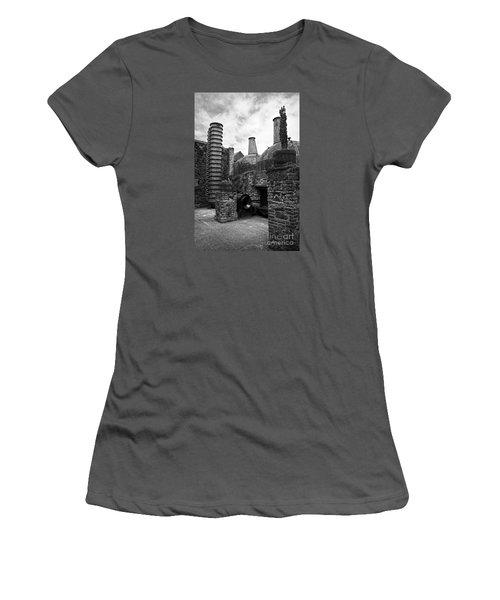 Copper Pot Stills And Column Still At Lockes Distillery Bw Women's T-Shirt (Athletic Fit)