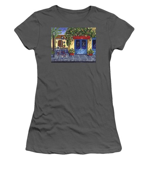 Women's T-Shirt (Junior Cut) featuring the painting Corner Store by Val Miller