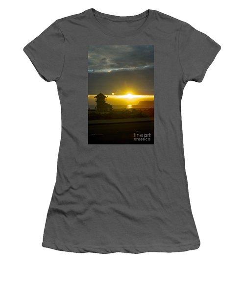 Coronado's Beach At Sunset Women's T-Shirt (Junior Cut) by Claudia Ellis