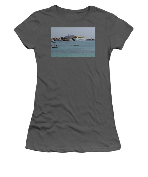 Corralejo Harbour Women's T-Shirt (Athletic Fit)