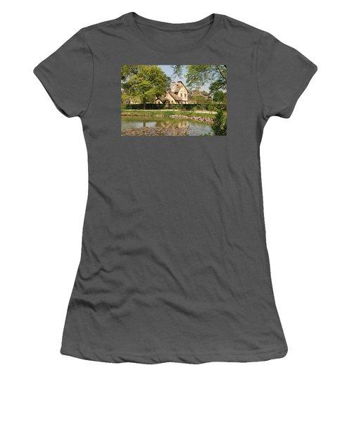 Cottage In The Hameau De La Reine Women's T-Shirt (Athletic Fit)