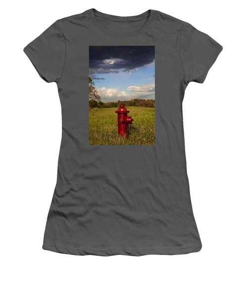 Country Fire Hydrant Women's T-Shirt (Athletic Fit)