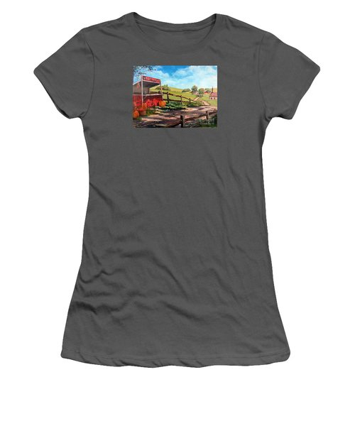 Country Life Women's T-Shirt (Junior Cut) by Lee Piper
