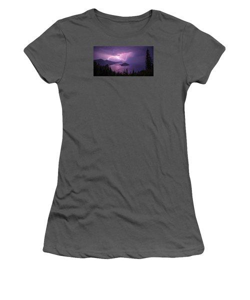 Crater Storm Women's T-Shirt (Junior Cut) by Chad Dutson