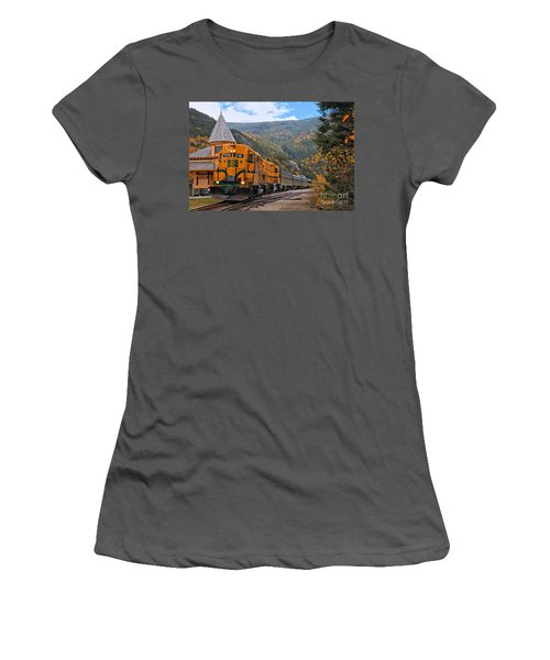 Crawford Notch Train Depot Women's T-Shirt (Athletic Fit)