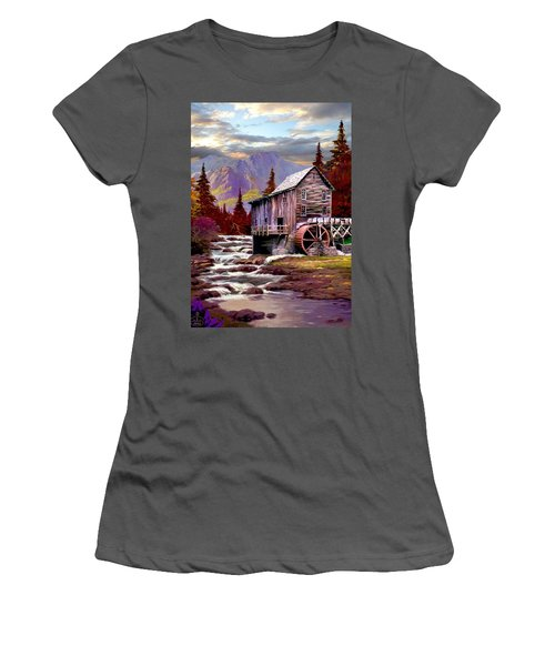 Creekside Mill Women's T-Shirt (Junior Cut) by Ron Chambers
