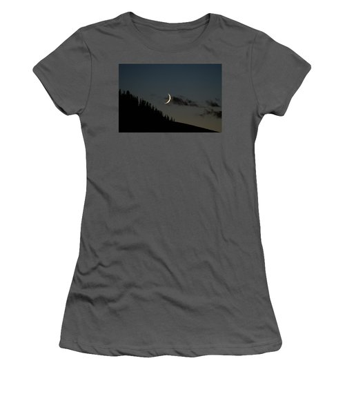 Women's T-Shirt (Junior Cut) featuring the photograph Crescent Silhouette by Jeremy Rhoades