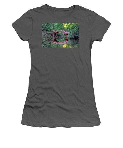Crim Dell Bridge In Summer Women's T-Shirt (Junior Cut) by Jerry Gammon