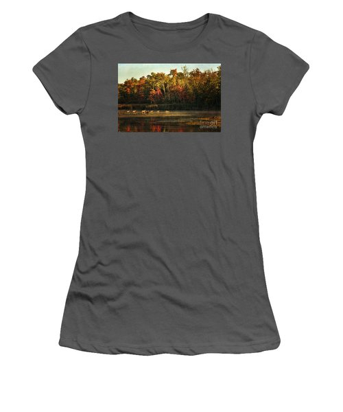 Crossing The Lake Women's T-Shirt (Athletic Fit)