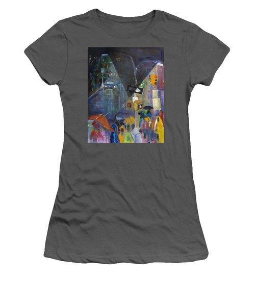 Crowded Intersection Women's T-Shirt (Junior Cut) by Leela Payne