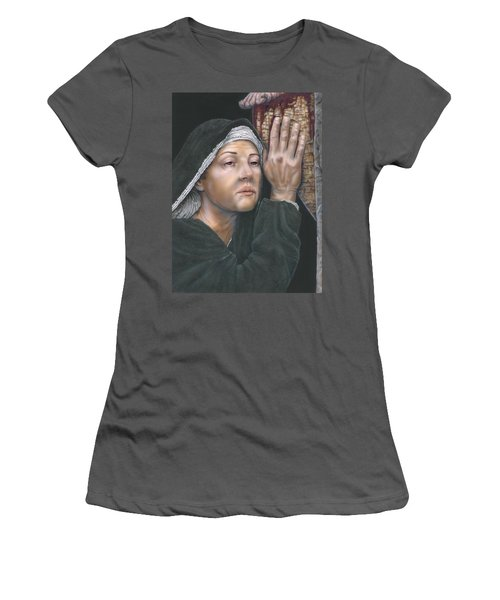 Crucifixion- Mothers Pain Women's T-Shirt (Athletic Fit)