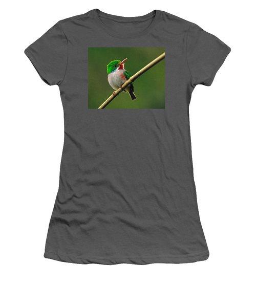 Cuban Tody Women's T-Shirt (Athletic Fit)