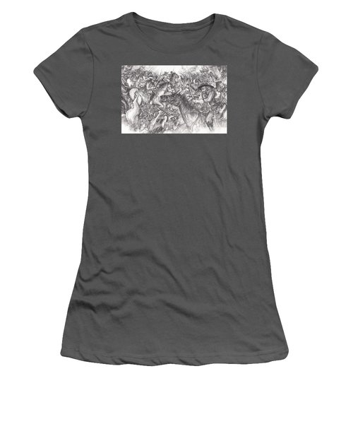 Custer's Clash Women's T-Shirt (Athletic Fit)