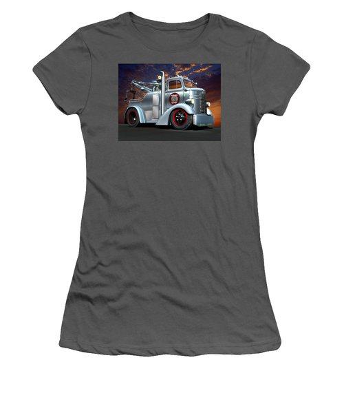 Women's T-Shirt (Junior Cut) featuring the digital art Custom Coe Tow Truck by Stuart Swartz