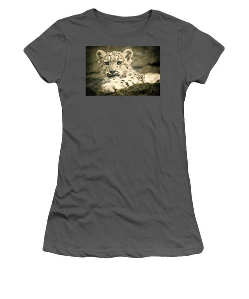 Cute Snow Cub Women's T-Shirt (Athletic Fit)