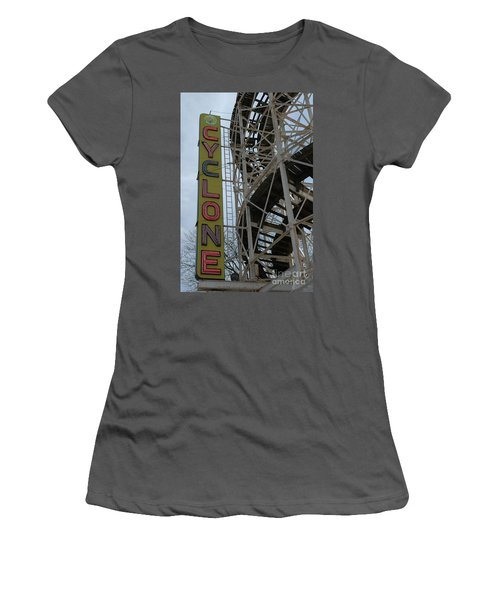 Cyclone - Roller Coaster Women's T-Shirt (Athletic Fit)