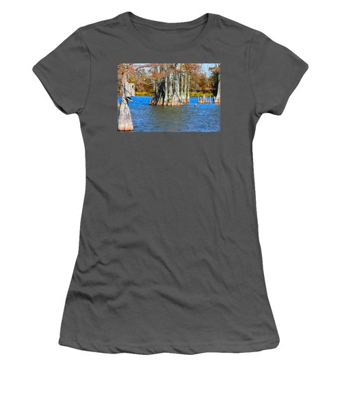 Cypress Birdhouse  Women's T-Shirt (Athletic Fit)