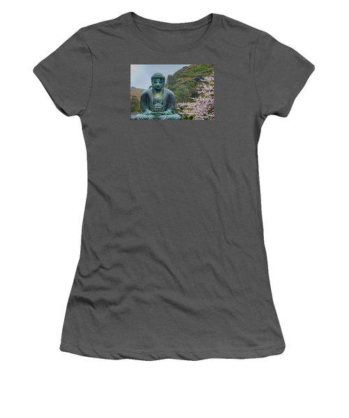 Daibutsu Buddha Women's T-Shirt (Junior Cut) by Alan Toepfer