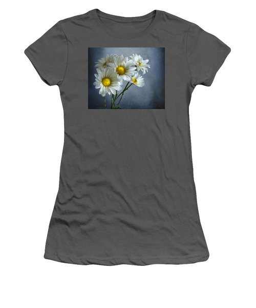 Women's T-Shirt (Junior Cut) featuring the photograph Daisy Bouquet by Ann Lauwers