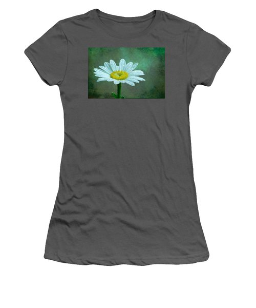 Daisy In The Rain Women's T-Shirt (Athletic Fit)