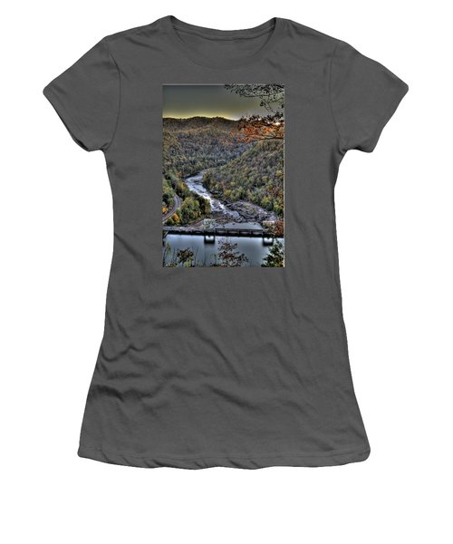Women's T-Shirt (Junior Cut) featuring the photograph Dam In The Forest by Jonny D