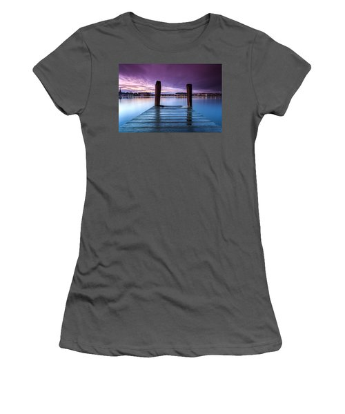 Damp Sunset Women's T-Shirt (Athletic Fit)