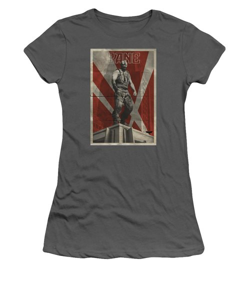 Dark Knight Rises - Bane Rooftop Poster Women's T-Shirt (Athletic Fit)
