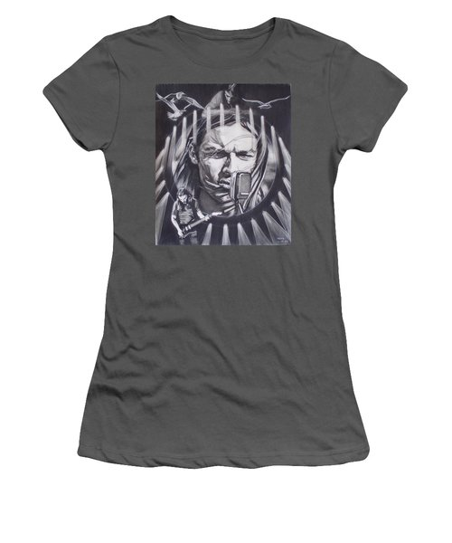 David Gilmour Of Pink Floyd - Echoes Women's T-Shirt (Junior Cut) by Sean Connolly