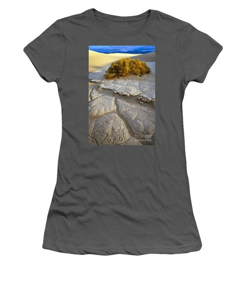 Death Valley Mudflat Women's T-Shirt (Athletic Fit)
