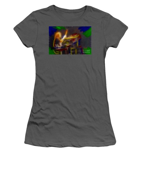 Def Leppard-adrenalize-gf24-ricka-fractal Women's T-Shirt (Junior Cut) by Gary Gingrich Galleries