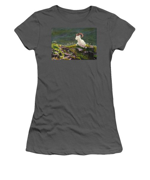 Denali Dall Sheep Women's T-Shirt (Athletic Fit)