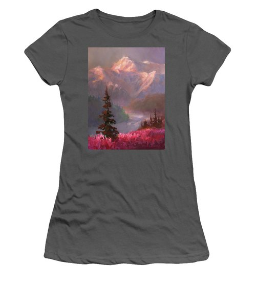 Denali Summer - Alaskan Mountains In Summer Women's T-Shirt (Athletic Fit)