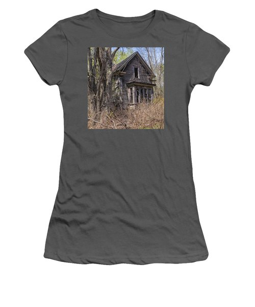 Women's T-Shirt (Junior Cut) featuring the photograph Derelict House by Marty Saccone