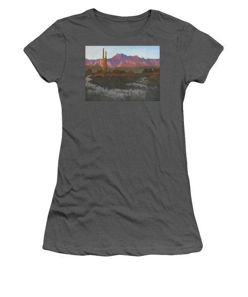 Desert Sunset Glow - Art By Bill Tomsa Women's T-Shirt (Athletic Fit)