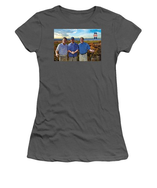 Women's T-Shirt (Junior Cut) featuring the painting Diamante Golf by Tim Gilliland