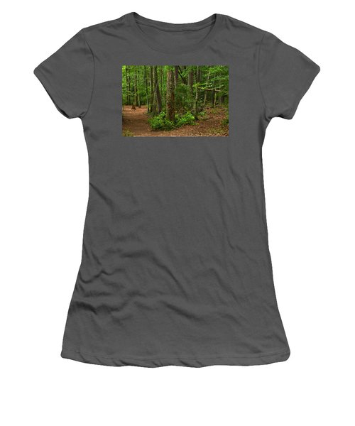 Diverted Paths Women's T-Shirt (Athletic Fit)
