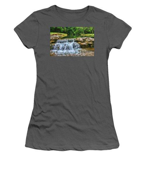 Dogwood Canyon Falls Women's T-Shirt (Athletic Fit)