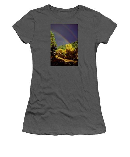 Double Rainbow Autumn Women's T-Shirt (Athletic Fit)