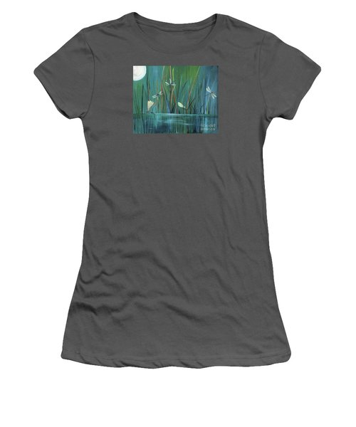 Dragonfly Diner Women's T-Shirt (Junior Cut) by Carol Sweetwood