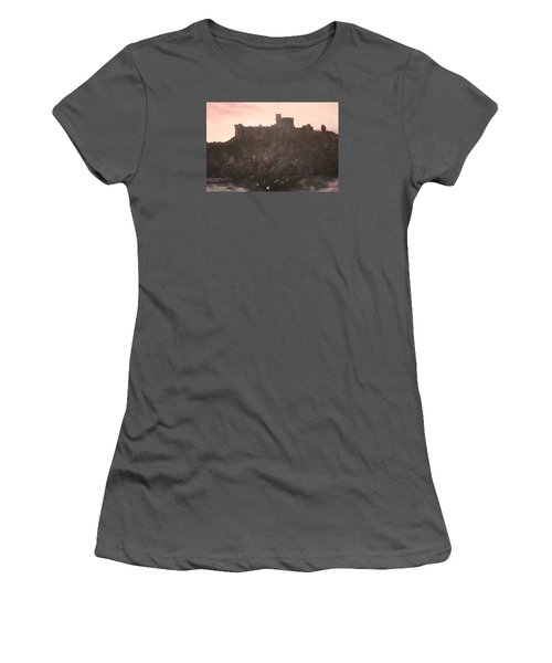 Women's T-Shirt (Junior Cut) featuring the painting Dusk Over Windsor Castle by Jean Walker