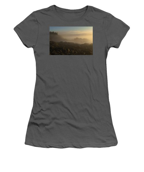 Early Morning Fog At Quoddy Women's T-Shirt (Athletic Fit)