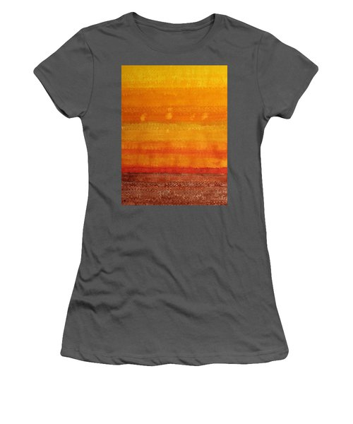 Earth And Sky Original Painting Women's T-Shirt (Athletic Fit)