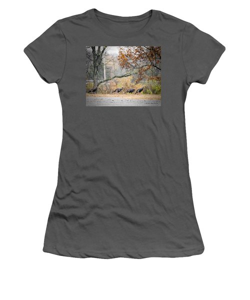 Eastern Wild Turkey  Women's T-Shirt (Athletic Fit)