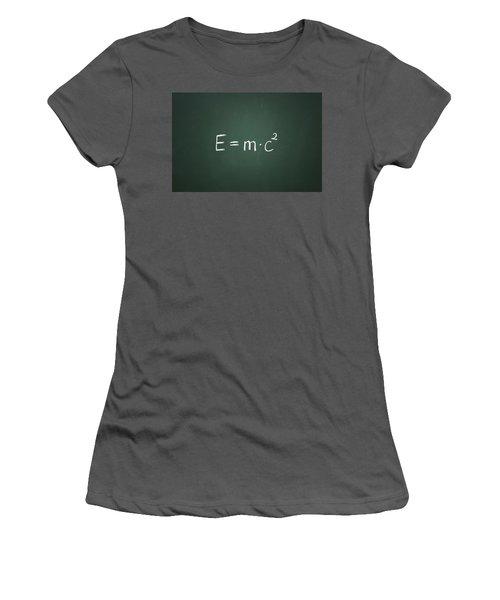 Einsteins Formula Women's T-Shirt (Junior Cut) by Chevy Fleet