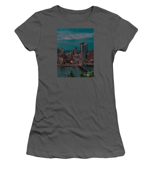 Electric Steel City Women's T-Shirt (Athletic Fit)