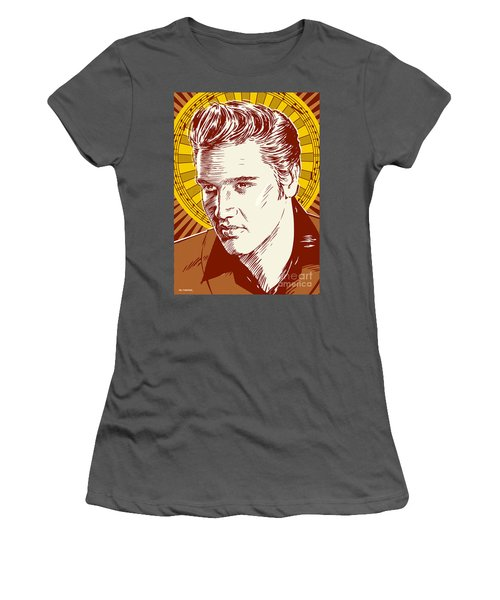 Elvis Presley Pop Art Women's T-Shirt (Athletic Fit)