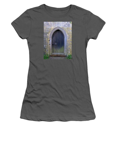 Women's T-Shirt (Junior Cut) featuring the photograph Enter At Your Own Risk by Suzanne Oesterling