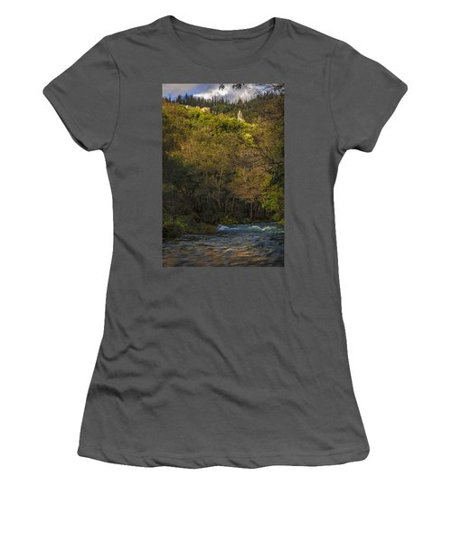 Women's T-Shirt (Junior Cut) featuring the photograph Eume River Galicia Spain by Pablo Avanzini