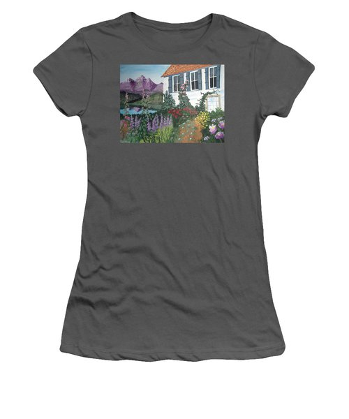 Women's T-Shirt (Junior Cut) featuring the painting European Flower Garden by Norm Starks