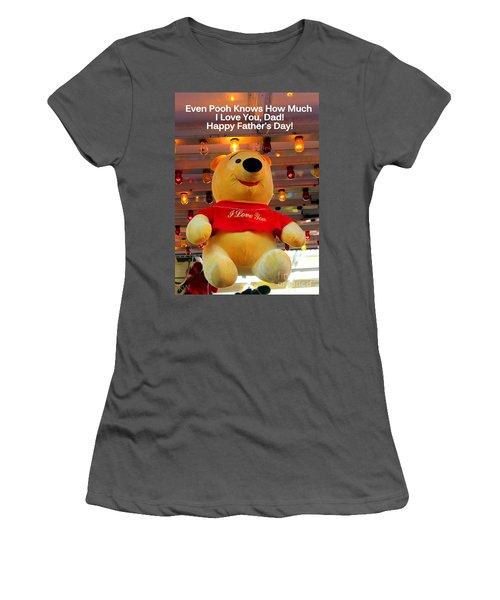 Even Pooh Knows Card Women's T-Shirt (Athletic Fit)